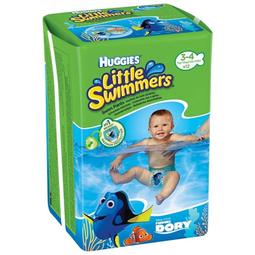 HUGGIES Little Swimmers kalhotky do vody velikost S 7-15 kg 12 ks