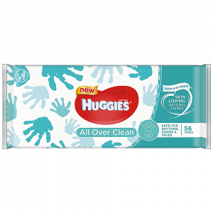 HUGGIES Single All Over Clean 56 ks