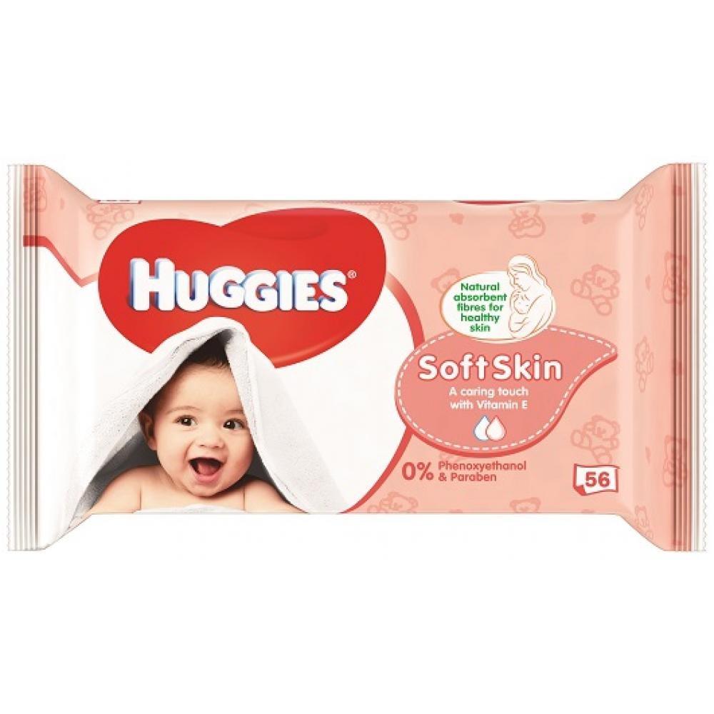 HUGGIES Soft Skin 56 ks