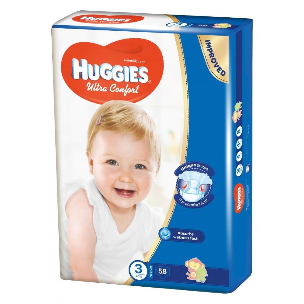 HUGGIES Ultra Comfort vel.3 58 ks