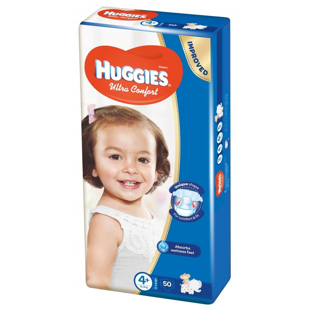 HUGGIES Ultra Comfort vel.4+ 50 ks