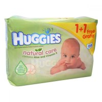 Huggies wipes Aloe 1+1 ( 2x56 ) zelené