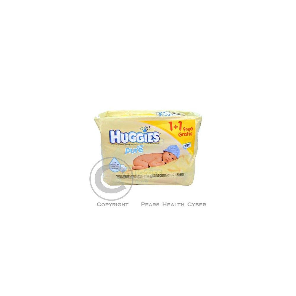 HUGGIES wipes Pure (2x56) žluté