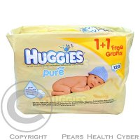 HUGGIES wipes Pure (2x56) žluté