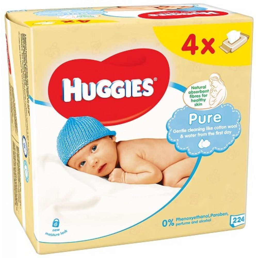 Huggies pure Vlhčené uibrousky 4x56ks