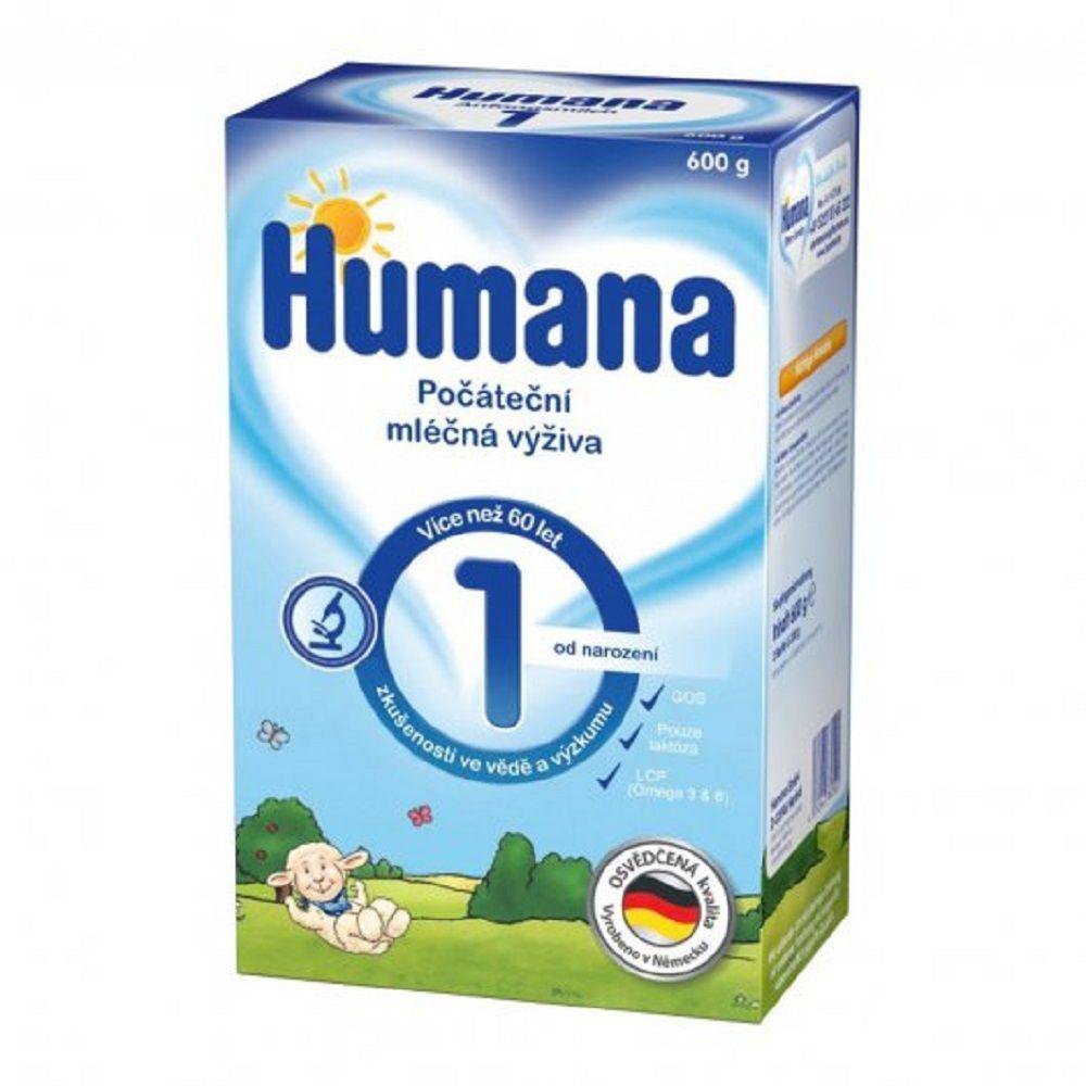 HUMANA 1 Počáteční kojenecká výživa od narozeni 600 g