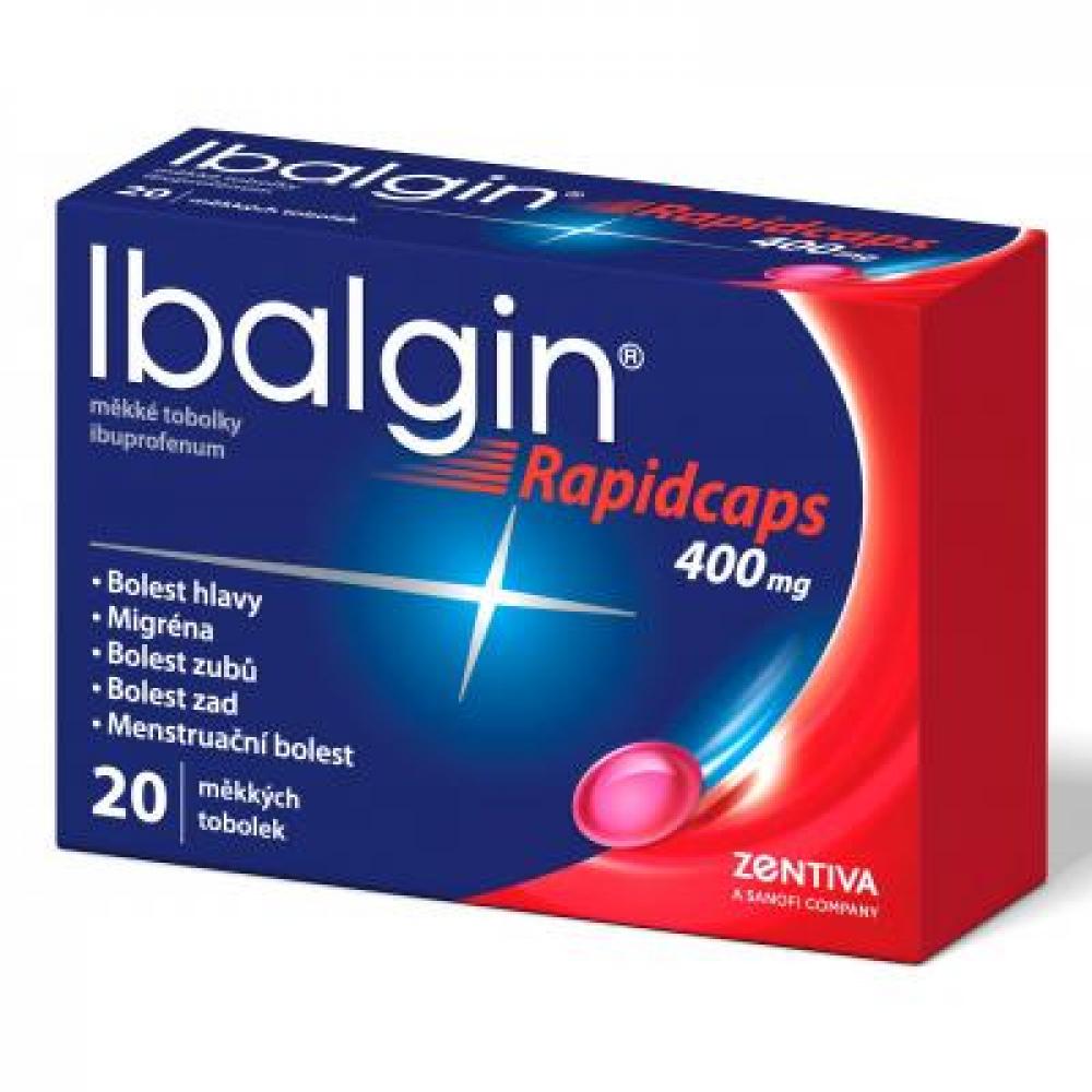 IBALGIN Rapidcaps 400 mg 20 měkkých tobolek