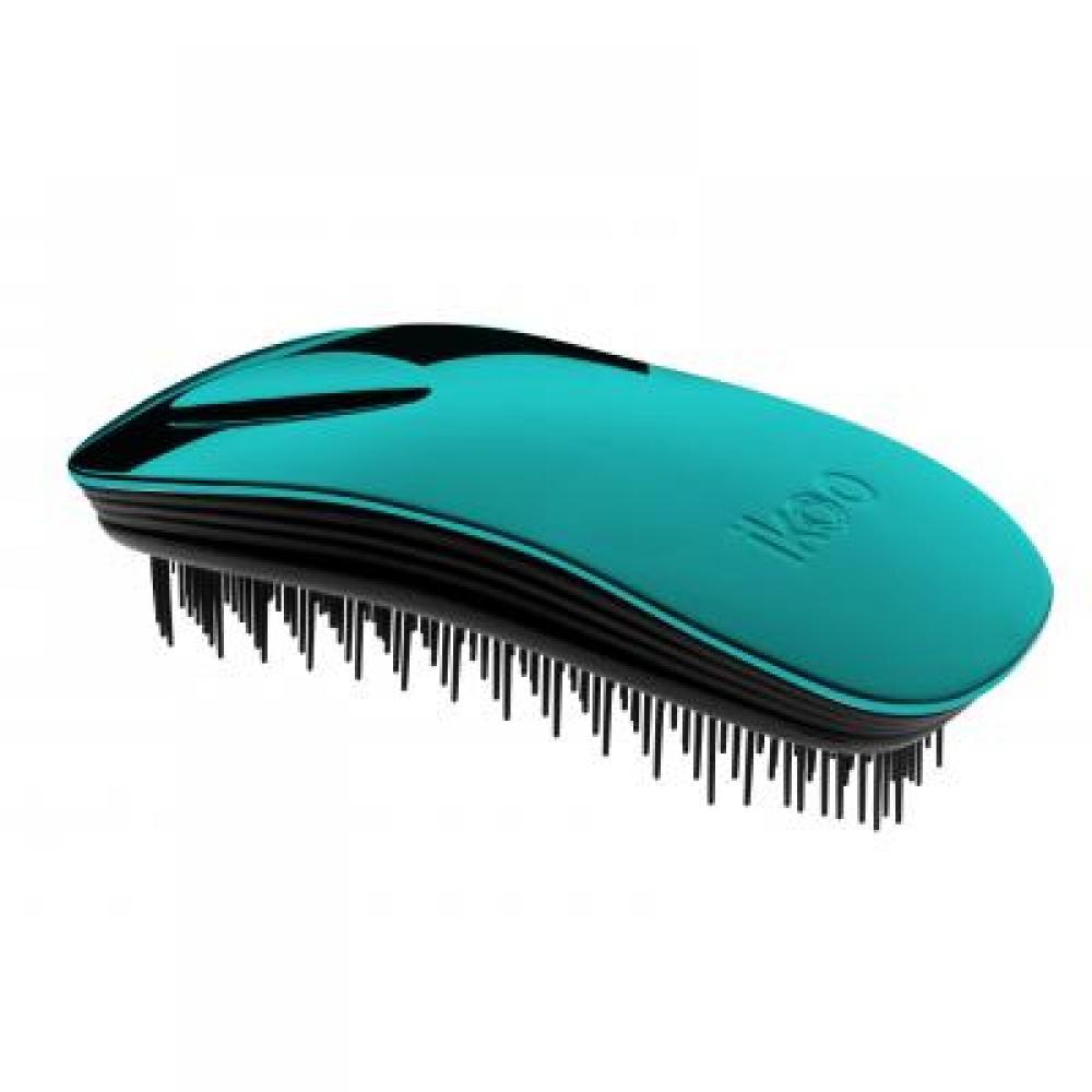 IKOO Home Metallic kartáč na vlasy černo-tyrkysový