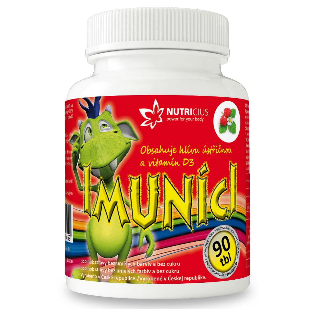 NUTRICIUS Imuníci Hlíva ústřičná s vitamínem D pro děti 90 tablet