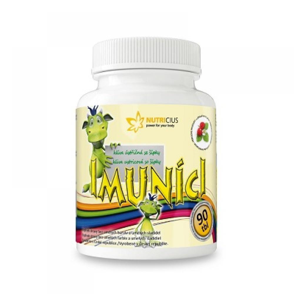 NUTRICIUS Imuníci Hlíva ústřičná se šípkem pro děti 90 tablet