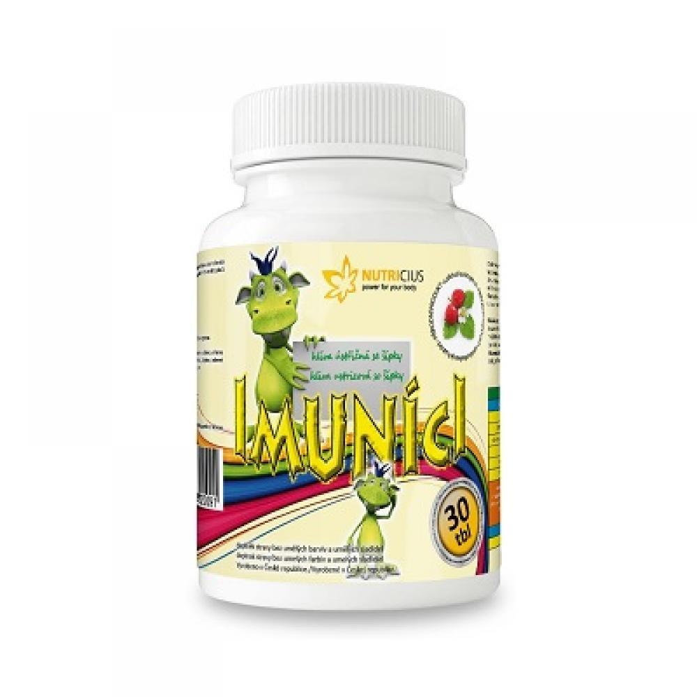 NUTRICIUS Imuníci Hlíva ústřičná se šípky pro děti 30 tablet