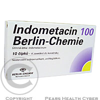 INDOMETACIN 100 BERLIN-CHEMIE SUP 10X100MG