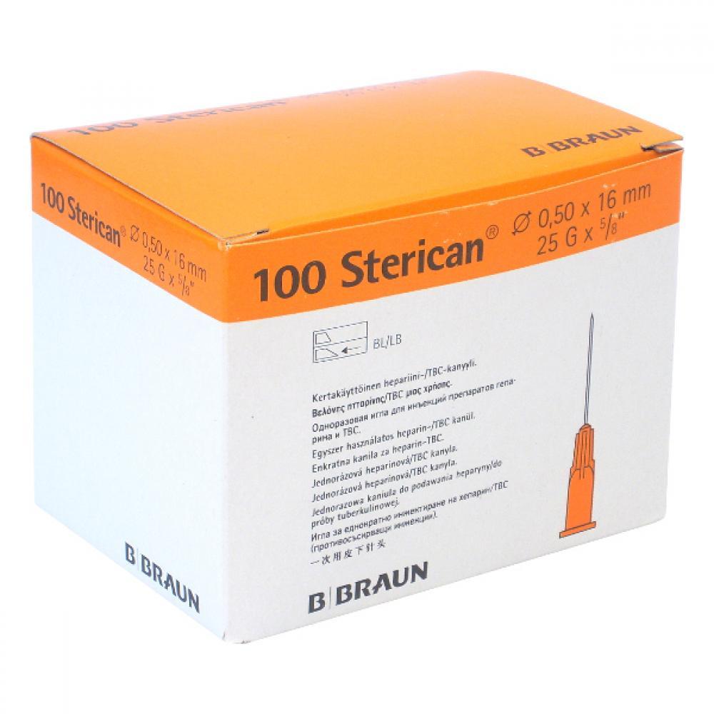 Injekční jehla 0.5x16 25G oranžová 100 ks Sterican