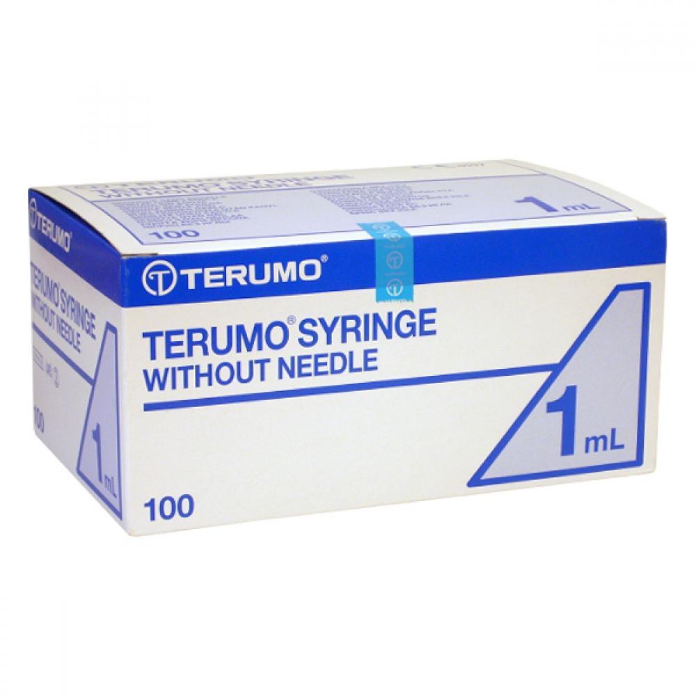 TERUMO TBC Injekční stříkačka bez jehly 1 ml 100 ks