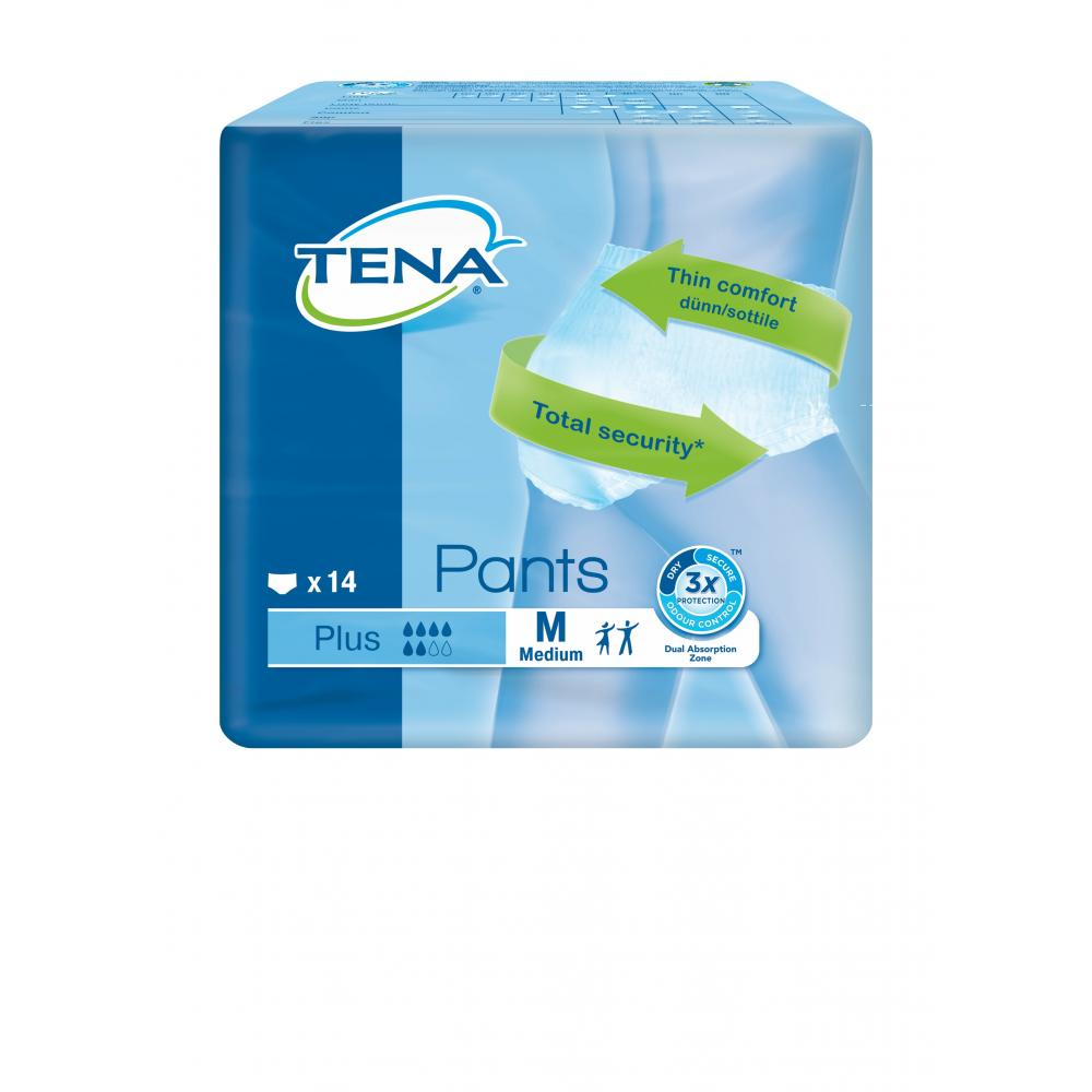 TENA Pants Plus Medium natahovací absorpční kalhotky 14 kusů