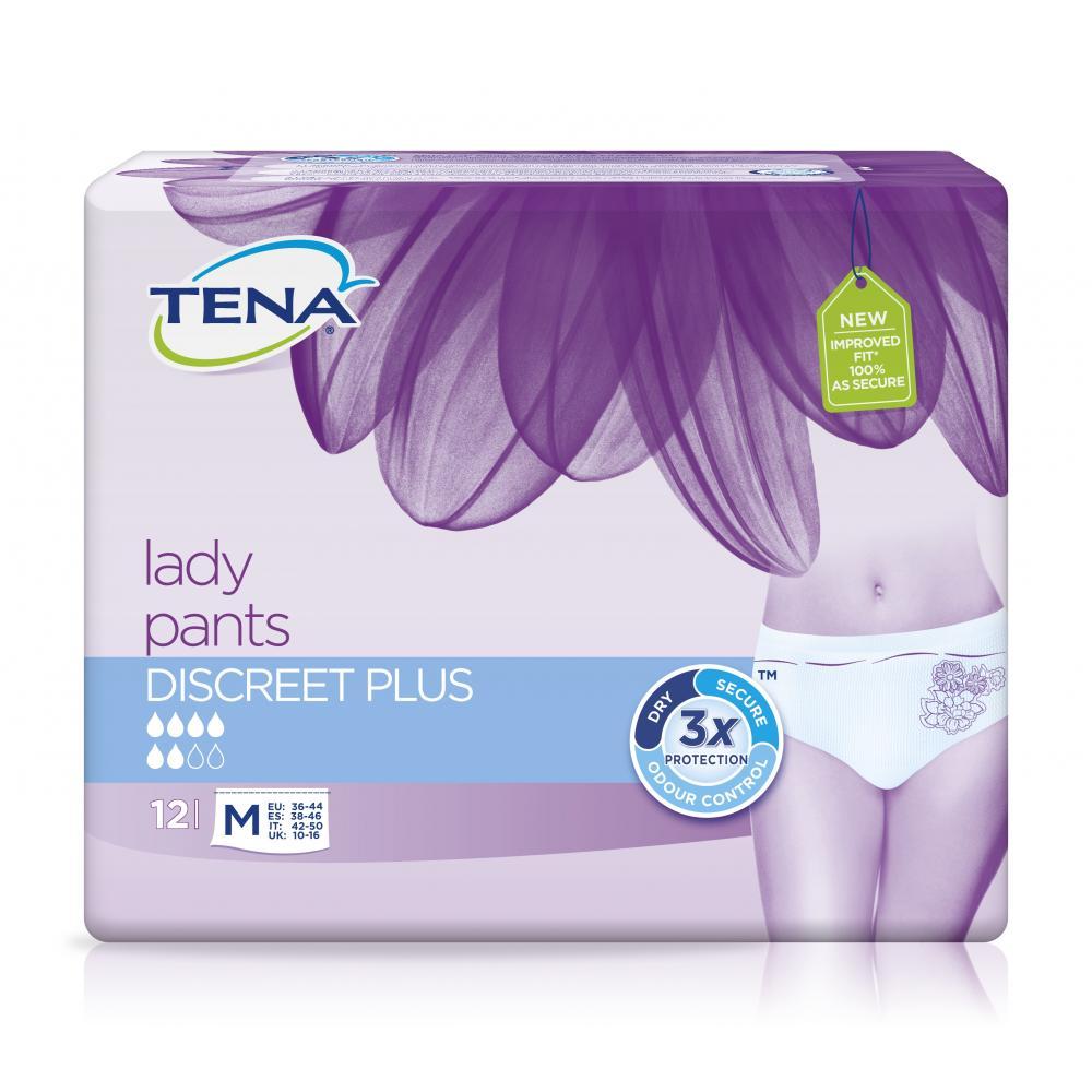 TENA Lady Pants Discreet Plus Medium absorpční kalhotky 12 kusů