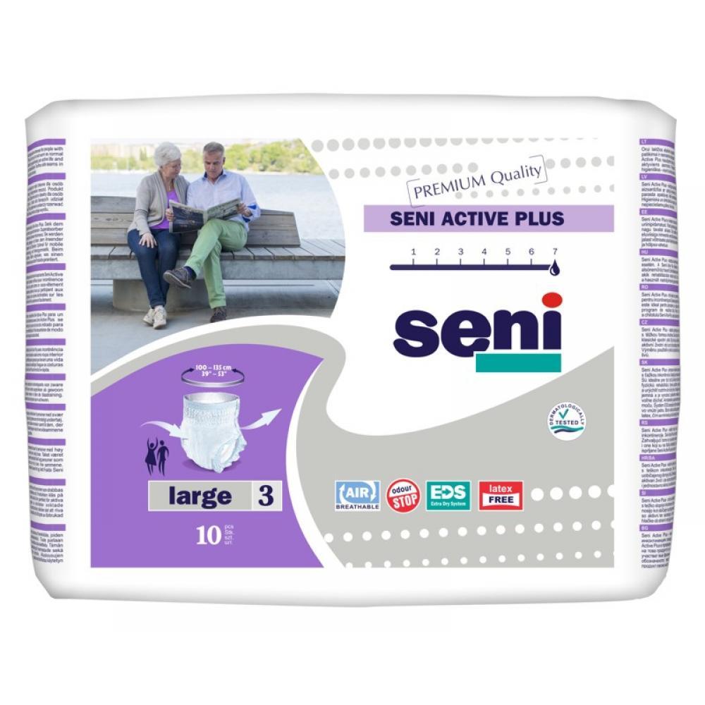 SENI ACTIVE LARGE Inkontinenční plenkové kalhotky 10ks