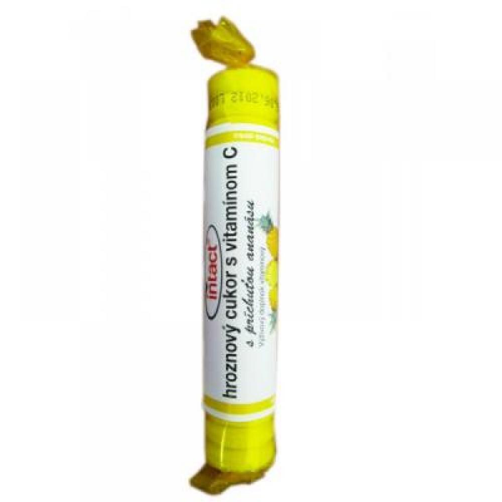 Intact hroznový cukr s vit.C ananas 40g (rolička)