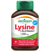 JAMIESON Lysin 1000mg se zinkem a vitaminem C 60 tablet