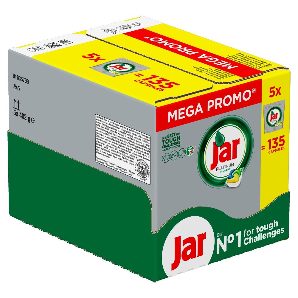 JAR Tablety do myčky Platinum 5x27 ks Box 135 ks