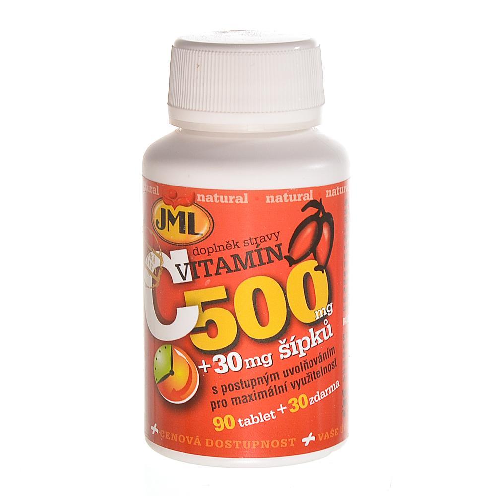 JML Vitamin C se šípky tablety s postupným uvolňováním 120 x 500 mg
