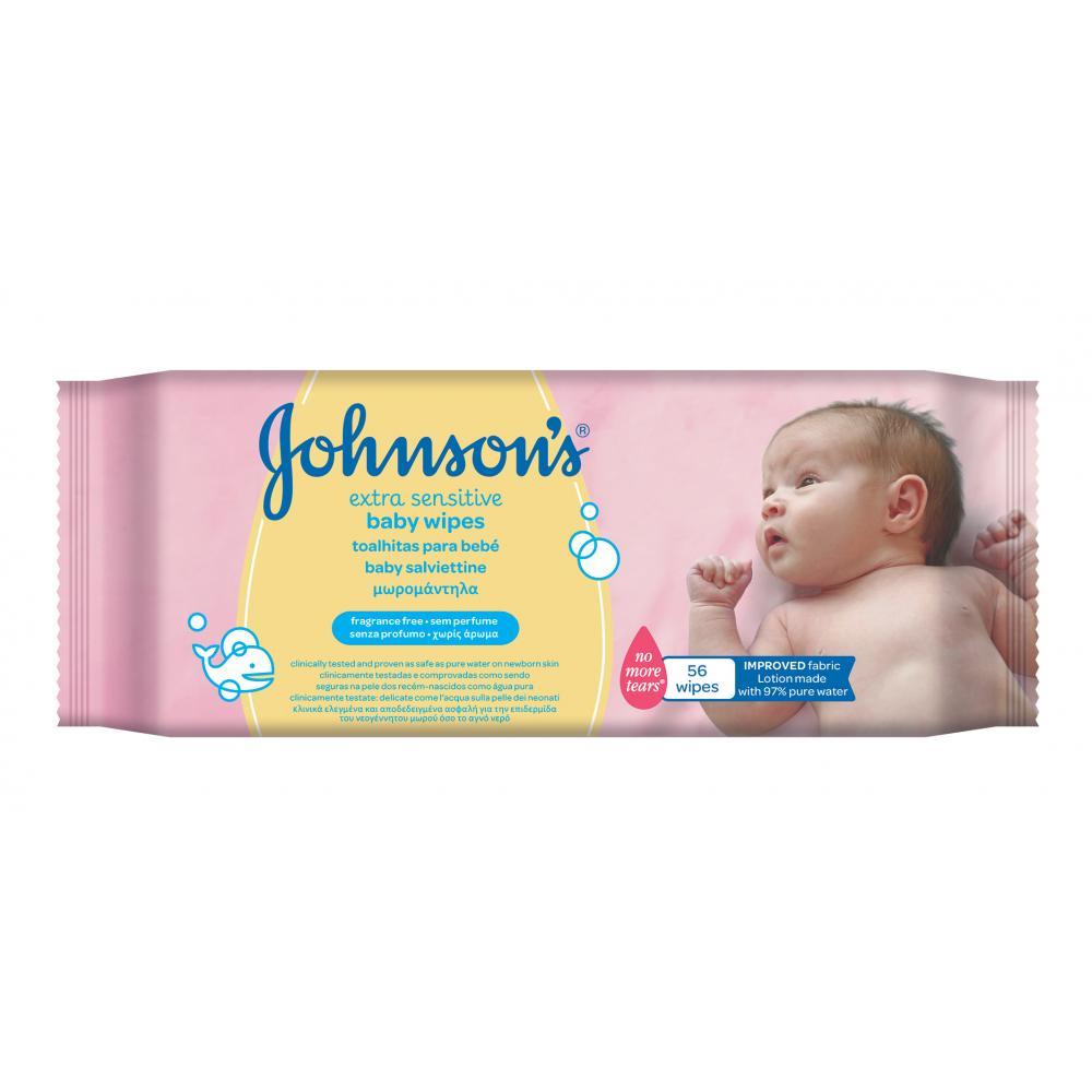 JOHNSON´S BABY Vlhčené ubrousky Extra Sensitive 56 kusů