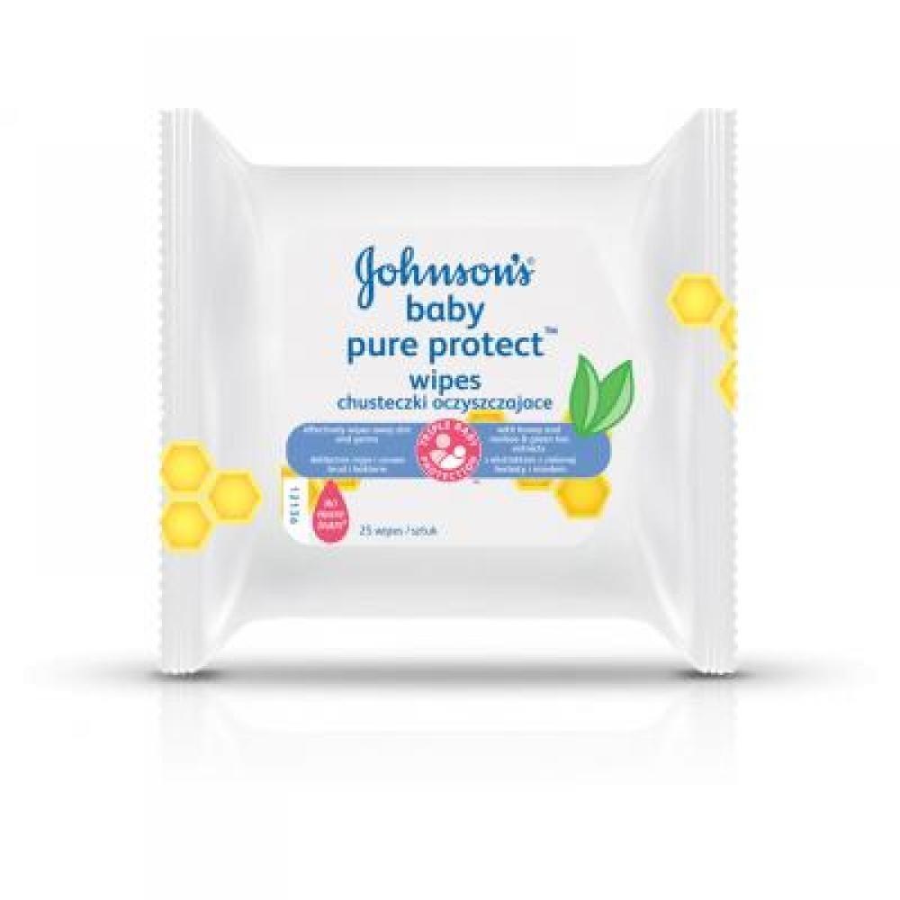 JOHNSON´S BABY Vlhčené ubrousky PURE PROTECTTM 25 kusů