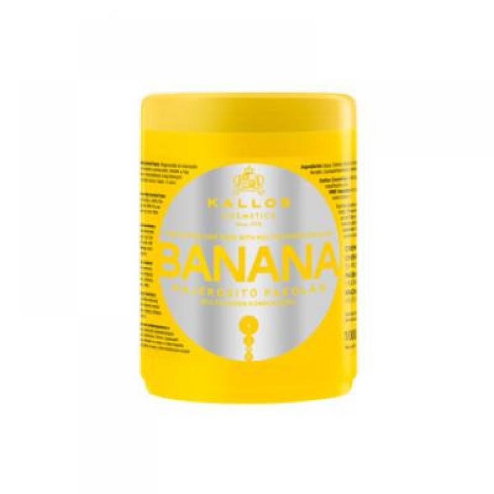 KALLOS Banánová posilující maska obsahující komplex vitamínů (Banana hair mask with multi-vitamin komplex) 1000 ml