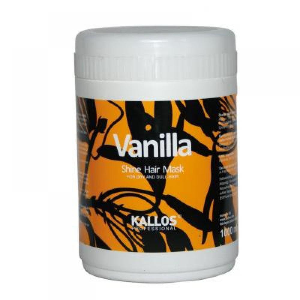 KALLOS Vanilla Shine maska pro oživení suchých vlasů 1000 ml