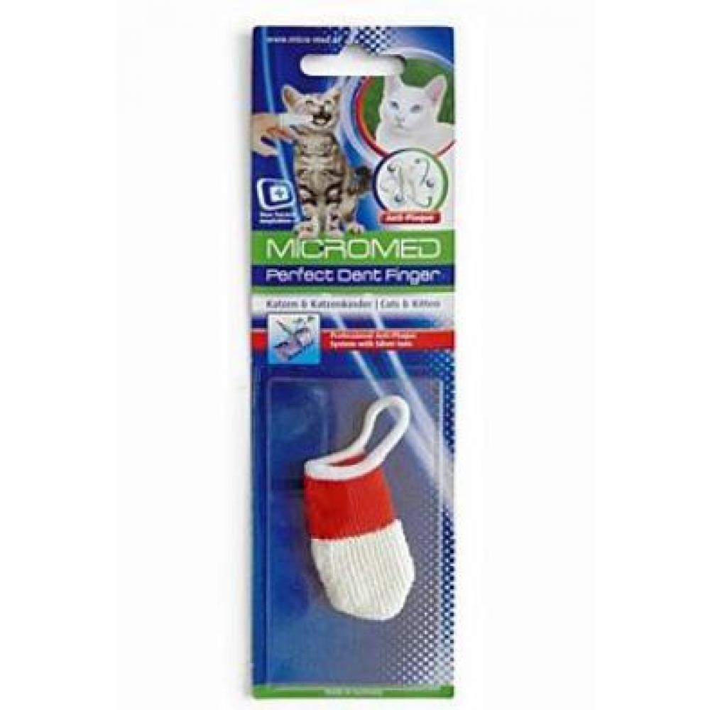 Kartáček zubní MICROMED na prst kočka