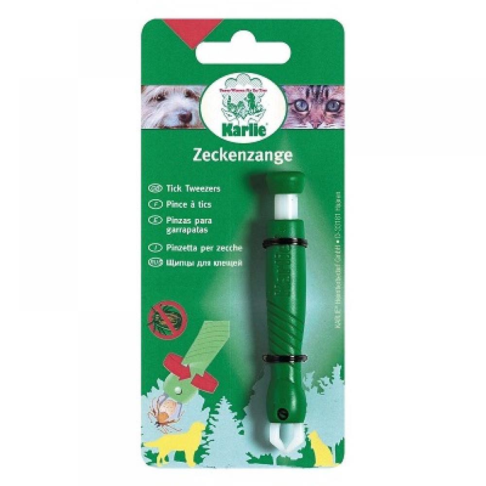 KARLIE Kleště na klíšťata plast zelené 1 ks