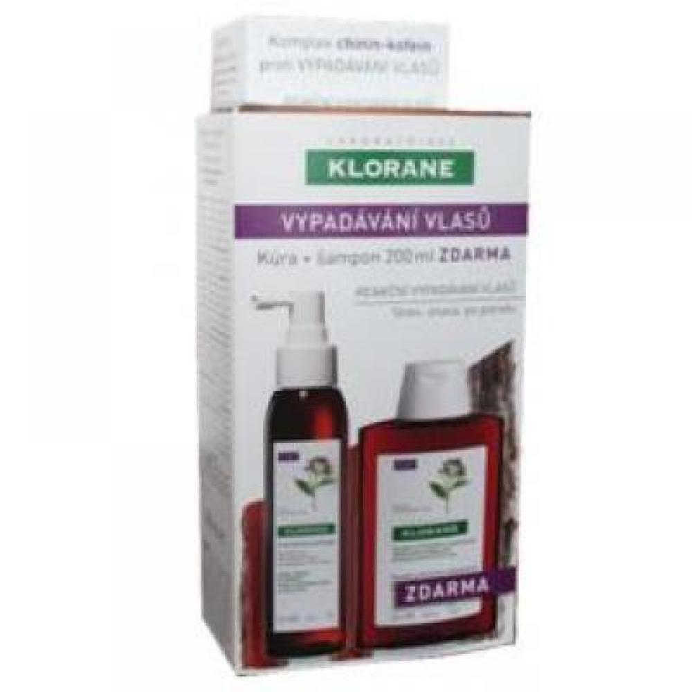 KLORANE Cure de Force antichute - kůra proti vypadávání vlasů 125 ml + šampon Chinin 200 ml ZDARMA