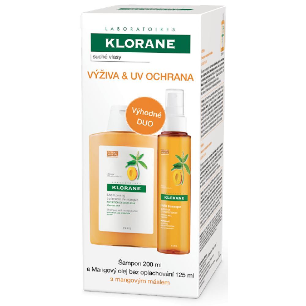 KLORANE Mangový šampón 200 ml a Mangový olej 125 ml