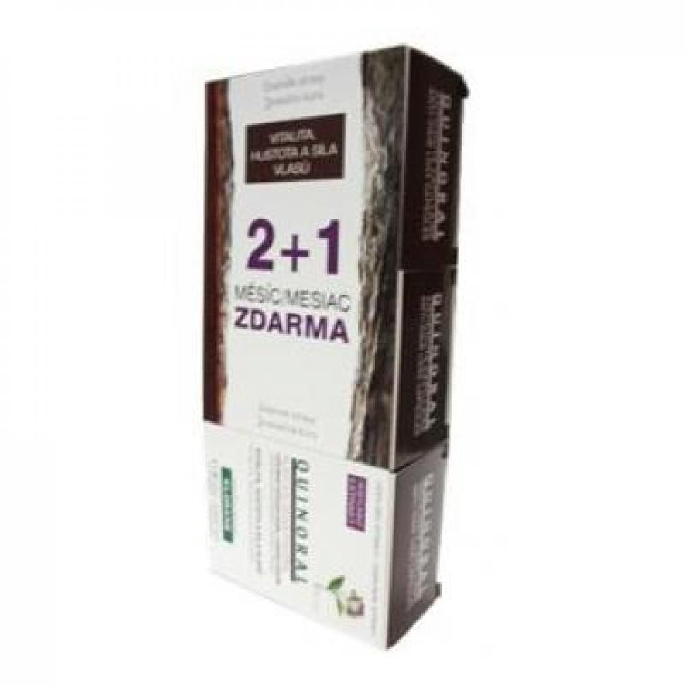 KLORANE Quinoral TRIO 2 + 1 ZDARMA potravní doplněk k regeneraci vlasů