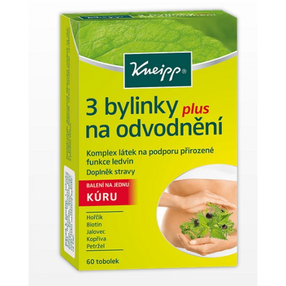 KNEIPP 3 bylinky na odvodnění plus 60 tobolek