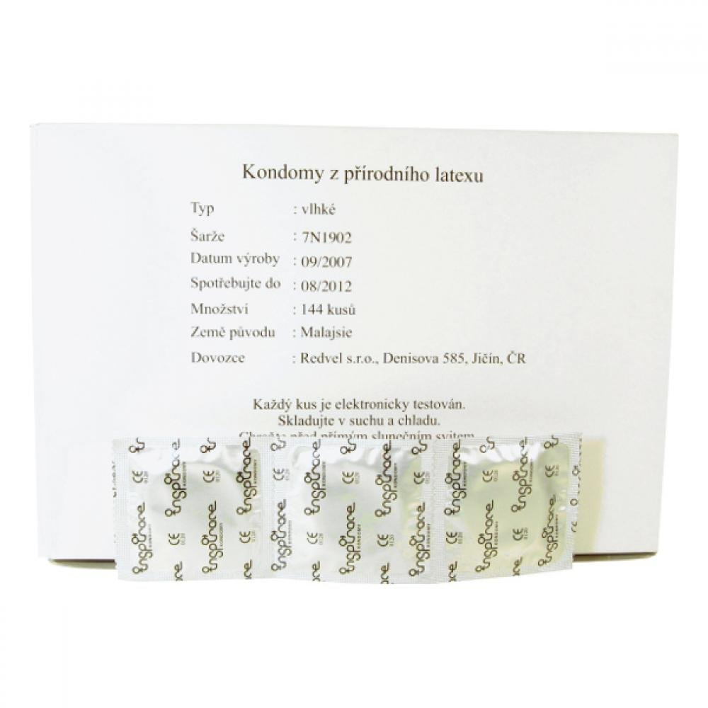 Kondomy INSPIRACE vlhké ve fólii volně balené 144ks