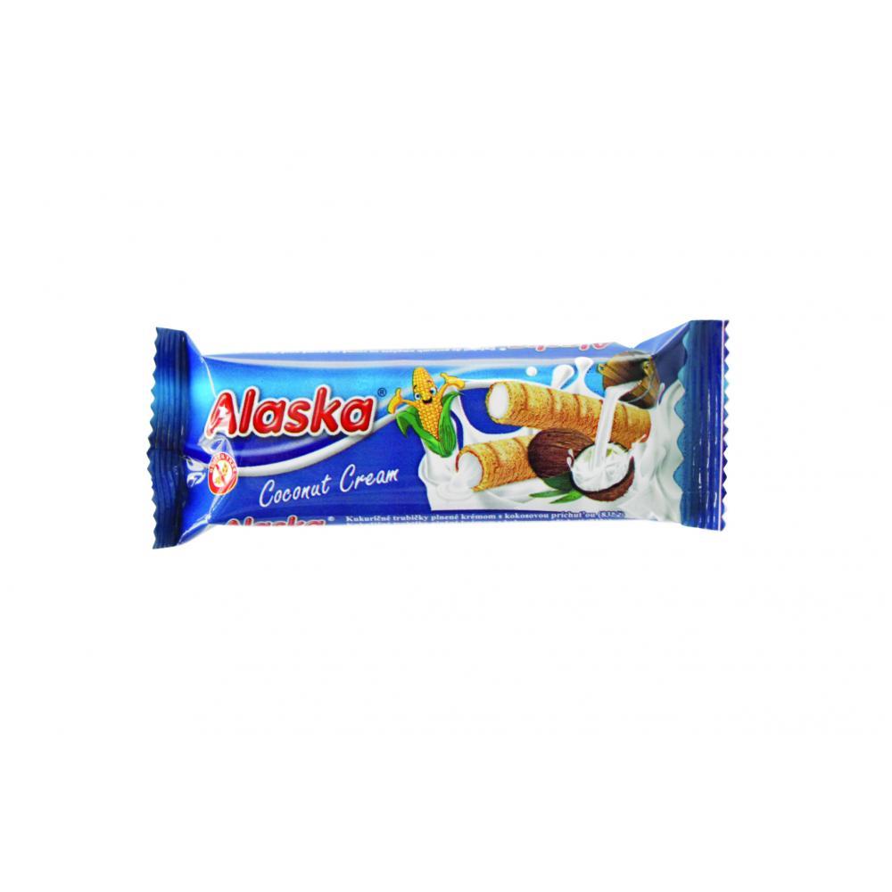 Kukuřičné trubičky Alaska kokosové 18 g