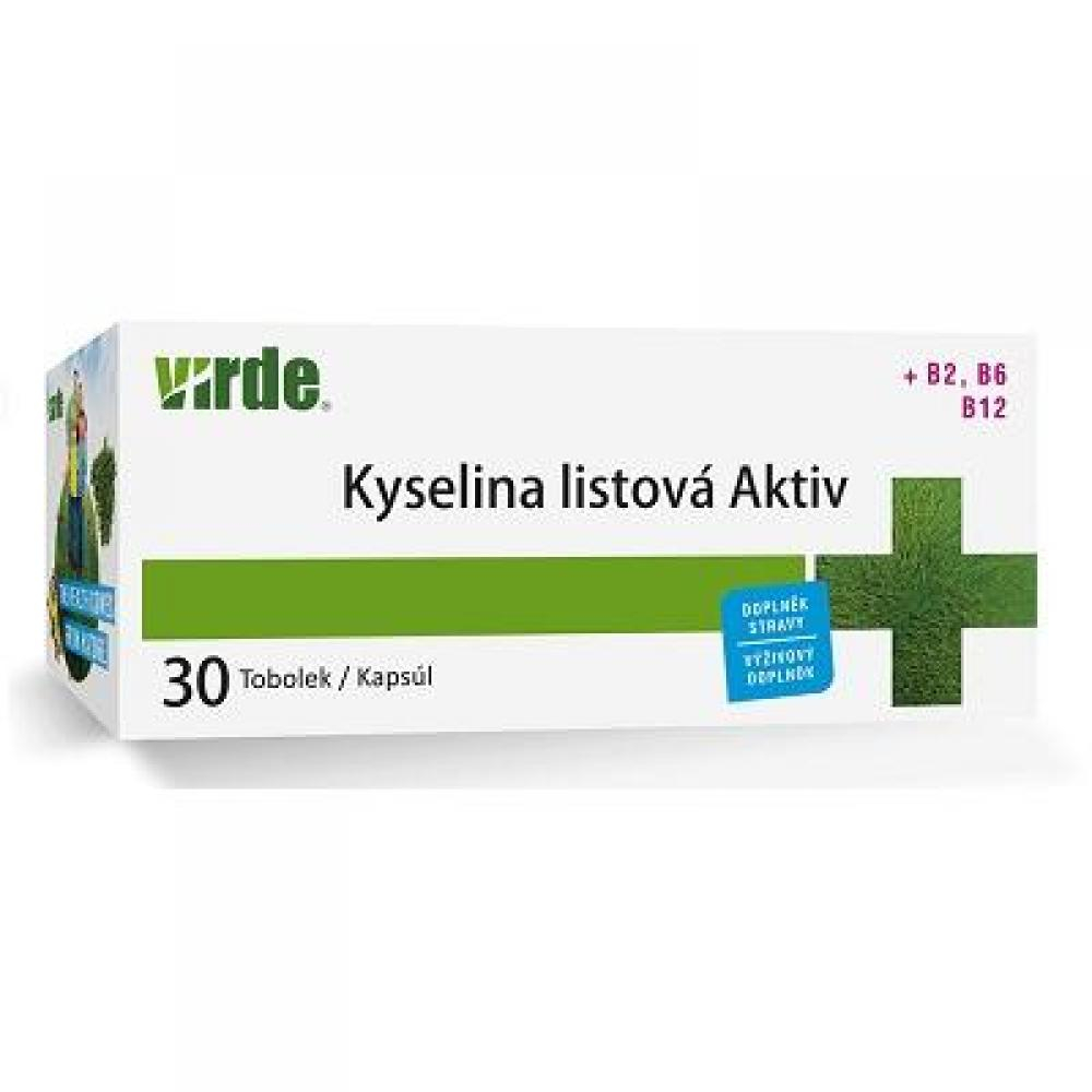 VIRDE Kyselina listová Aktiv 30 tobolek