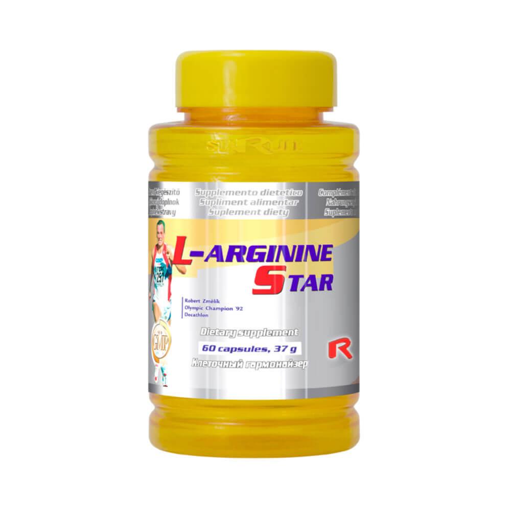 L-arginine 500 Starlife - podpora syntézy bílkovin 90 kapslí