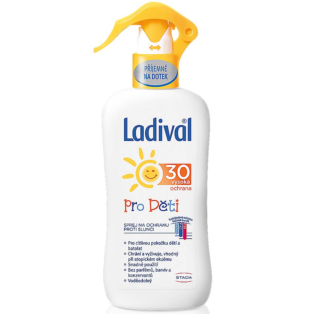 Ladival OF 30 ochrana před sluncem sprej pro děti 200 ml