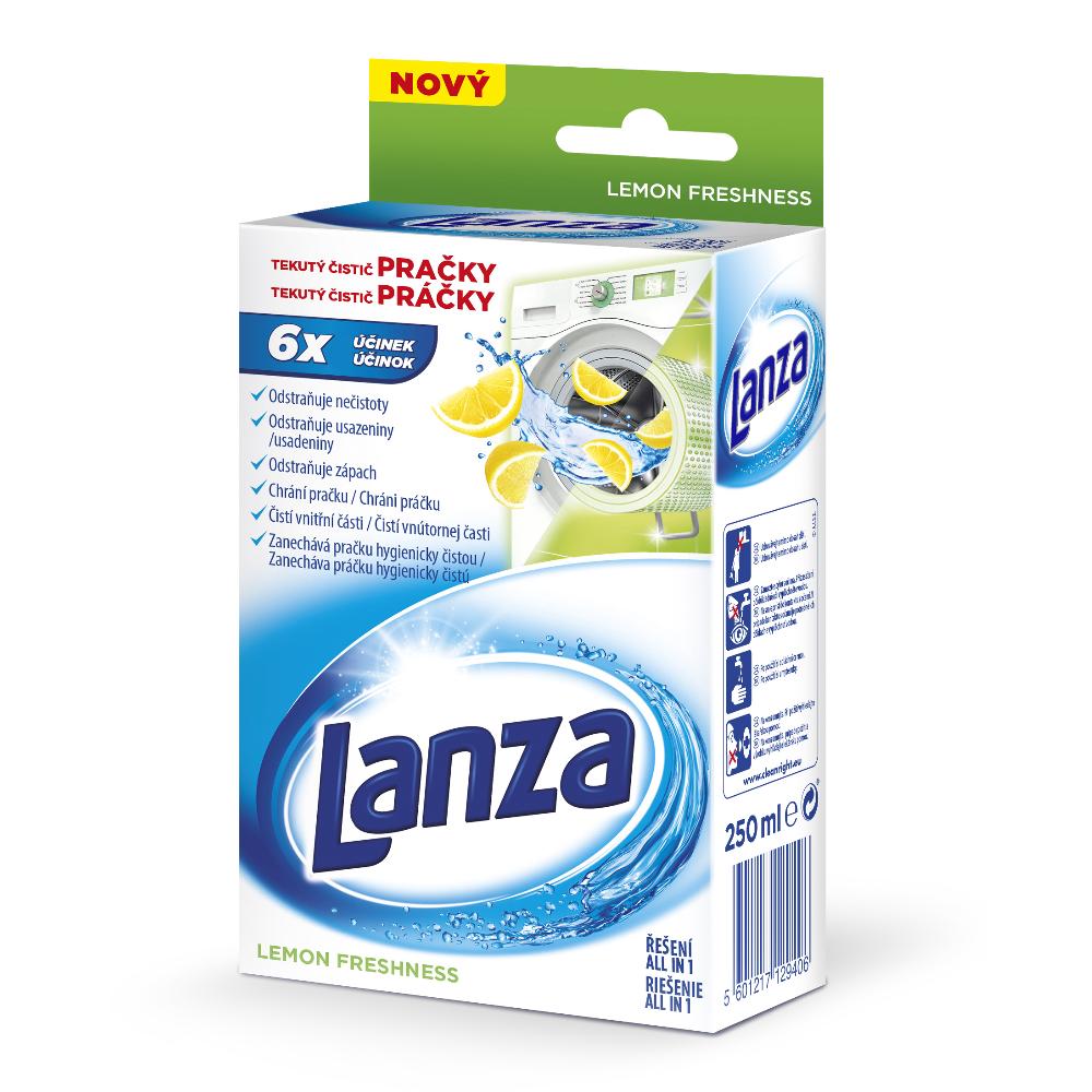 LANZA Tekutý čistič pračky Citron 250 ml, 1 prací dávka