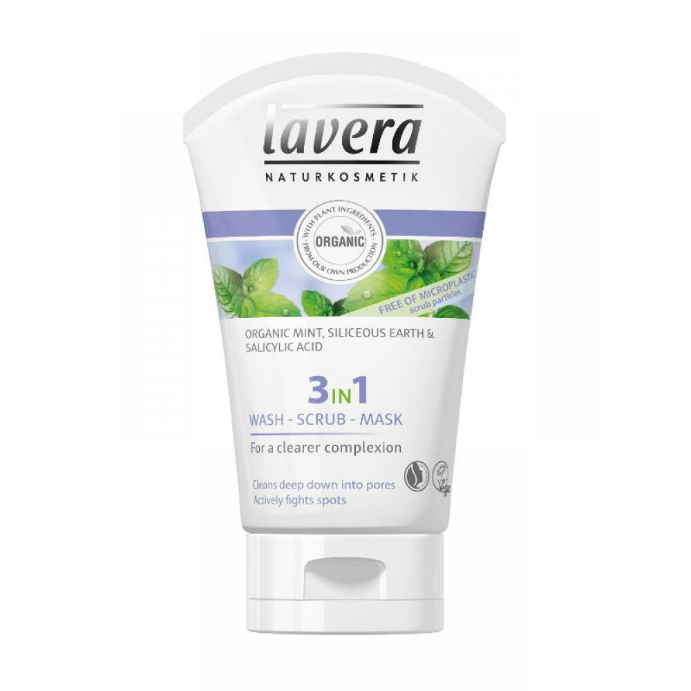 LAVERA Očista, peeling a maska 3v1 125 ml