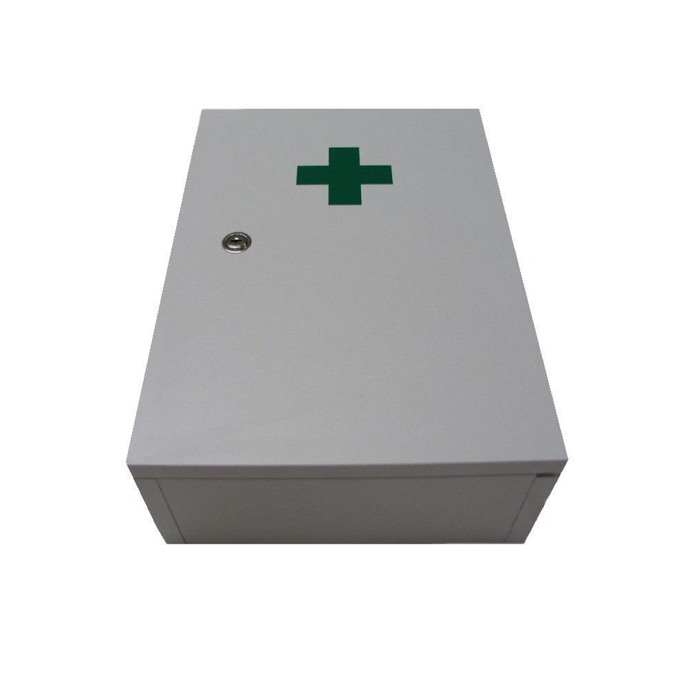 Lékárnička nástěnná dřevěná bílá do 30 osob Steriwund