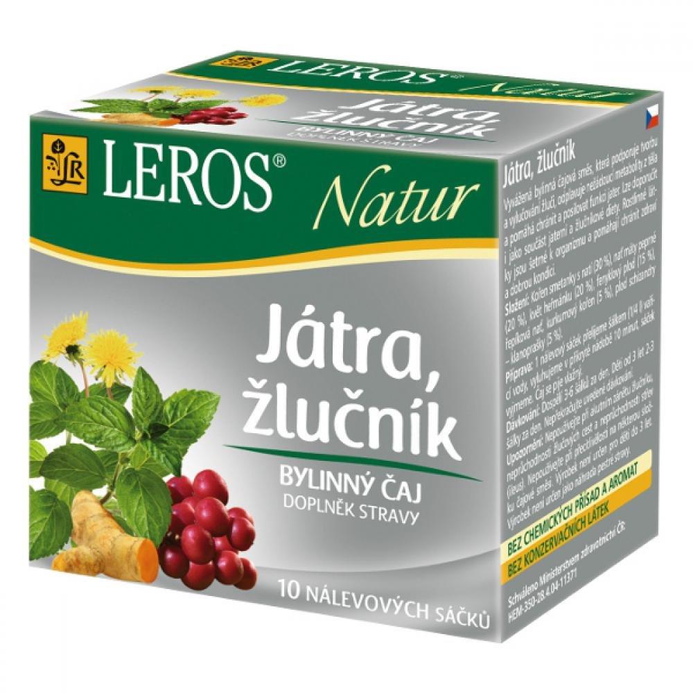 LEROS NATUR Játra, žlučník 10 x 1,5 g