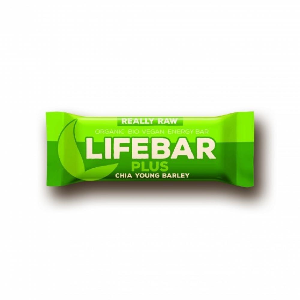 LIFEFOOD Lifebar plus chia semínka a mladý ječmen BIO 47 g