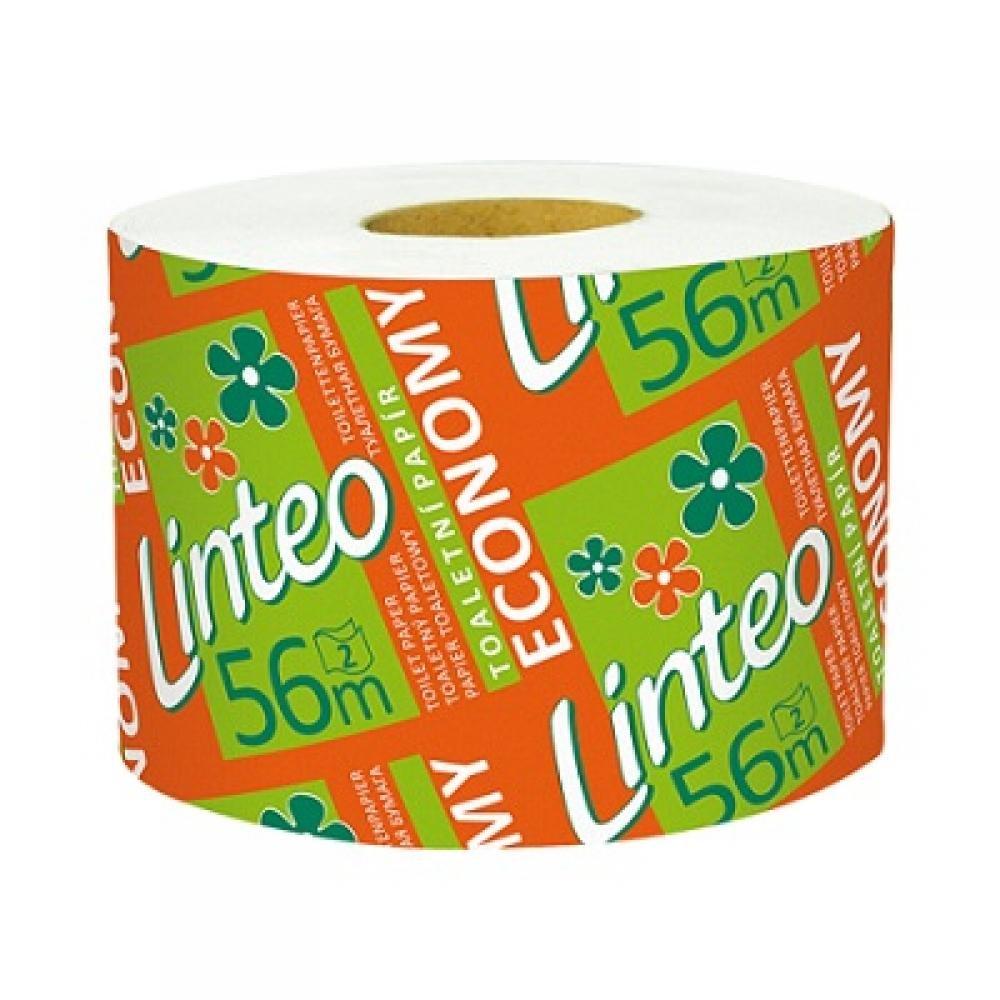 LINTEO Toaletní papír ECONOMY 2-vrstvý solorolička 56 m
