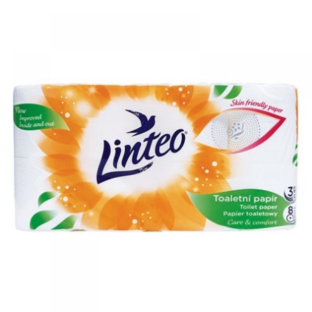 LINTEO Toaletní papír 3-vrstvý 8x15 m