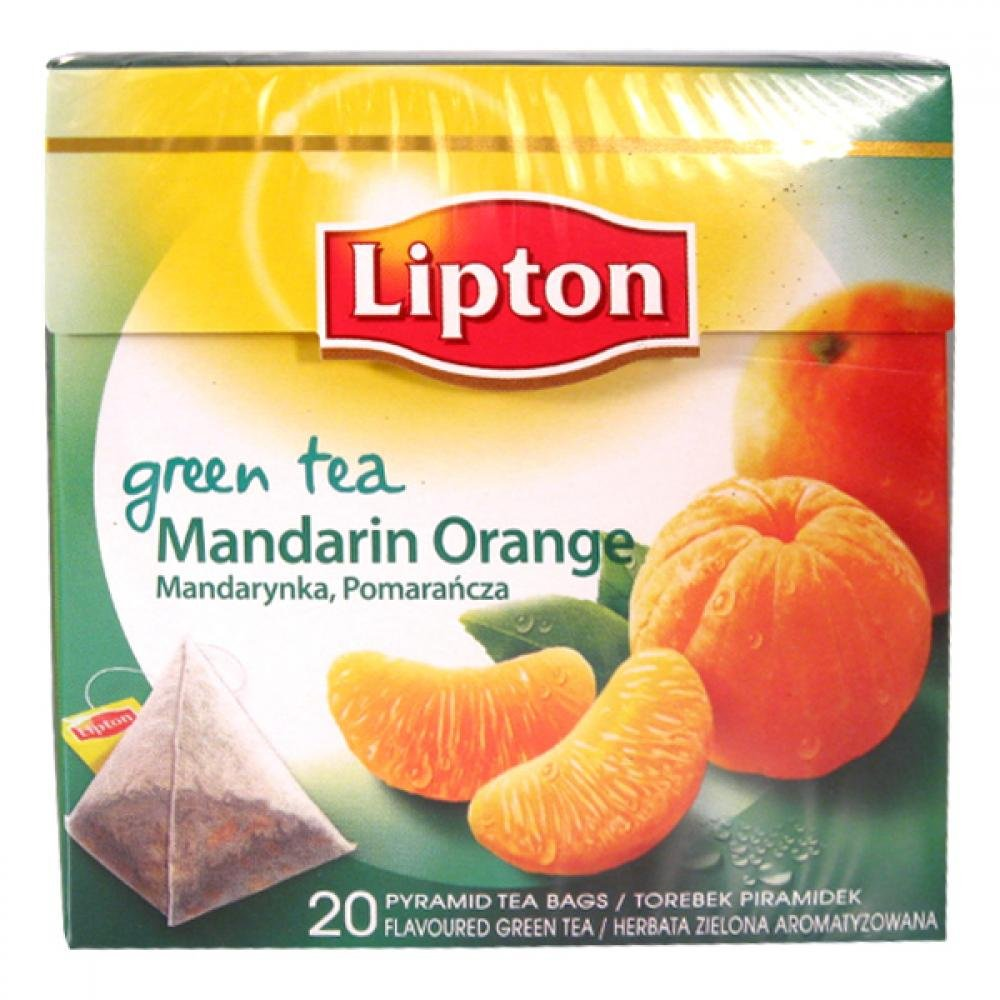 LIPTON pyramid Green Mandarine Orange 20 x 1.8g 36g
