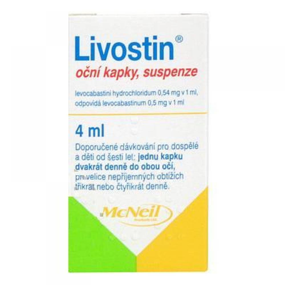 LIVOSTIN Oční Kapky, Suspenze 4 Ml/2 Mg
