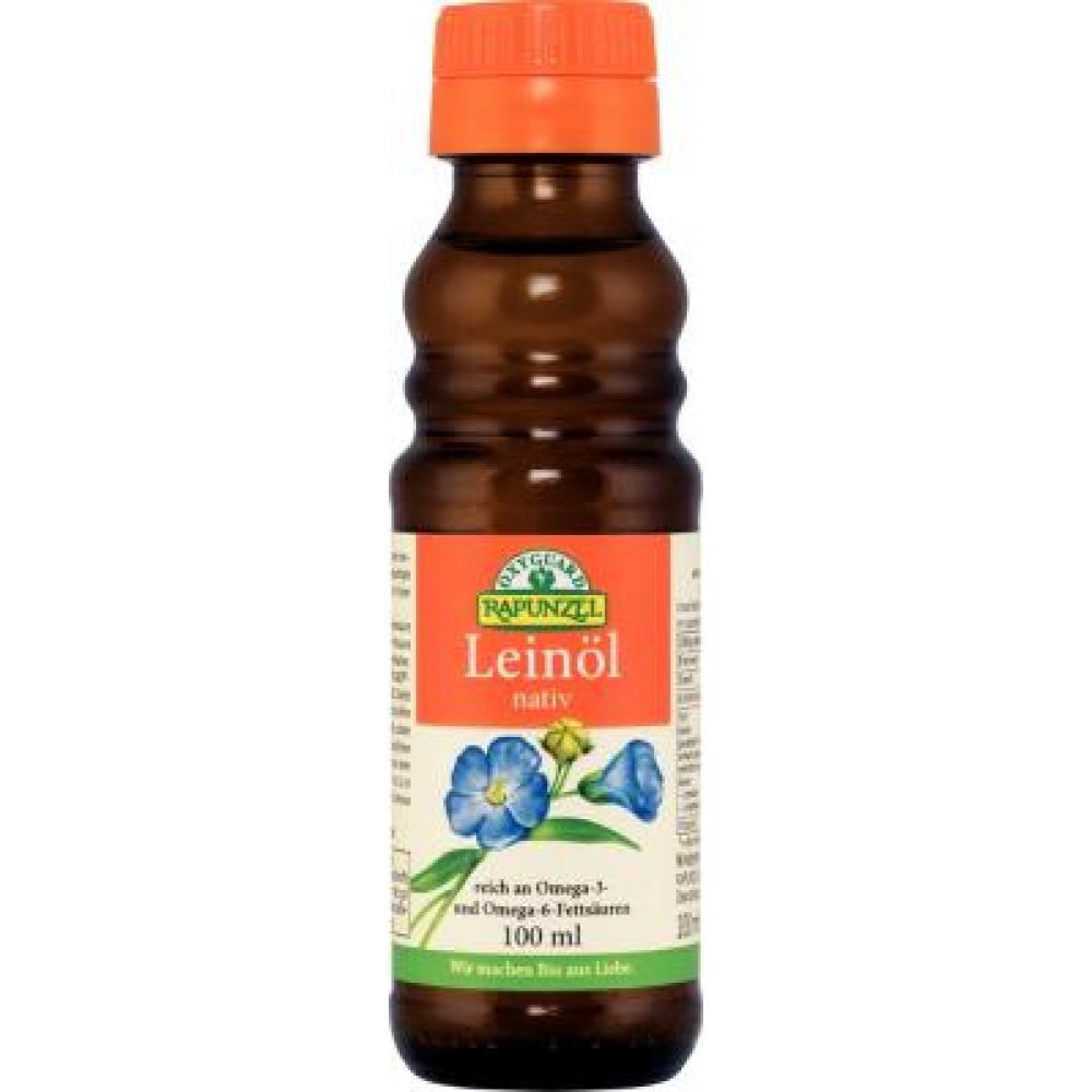 Lněný olej lisovaný za studena RAPUNZEL 100ml-BIO
